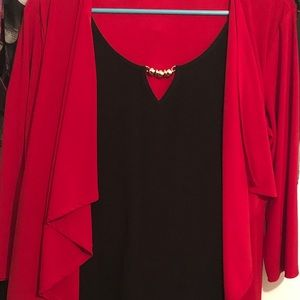 Other - Red & gold blouse